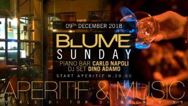 Blume Roma Aperitivo domenica 9 dicembre 2018