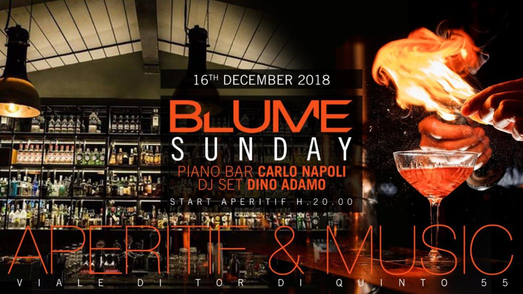 Domenica Blume Roma Aperitivo 16 dicembre
