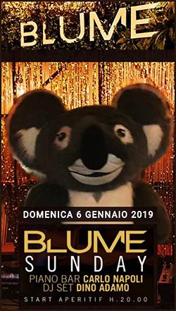Blume Roma domenica 6 gennaio 2019 Aperitivo Djset