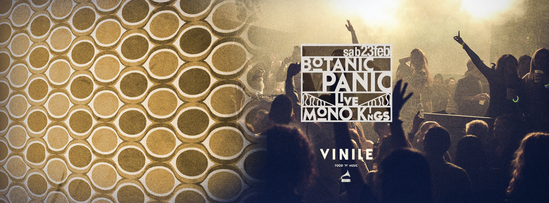 Vinile Sabato 23 febbraio 2019 Aperitiv & Disco BOTANIC PANIC