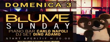 Blume domenica 2 febbraio 2019 | Aperitiv Carlo Napoli + Dino Adamo