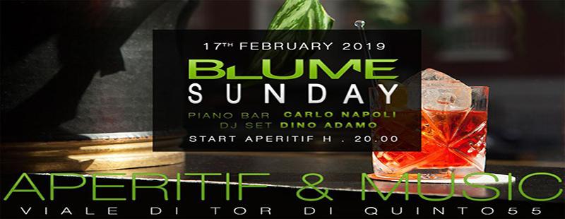 Blume Lounge domenica 17 febbraio 2019: L'aperitivo di Roma nord