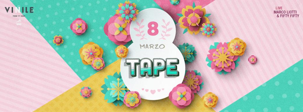 Vinile venerdì 8 marzo 2019 TAPE Serata Dance 90