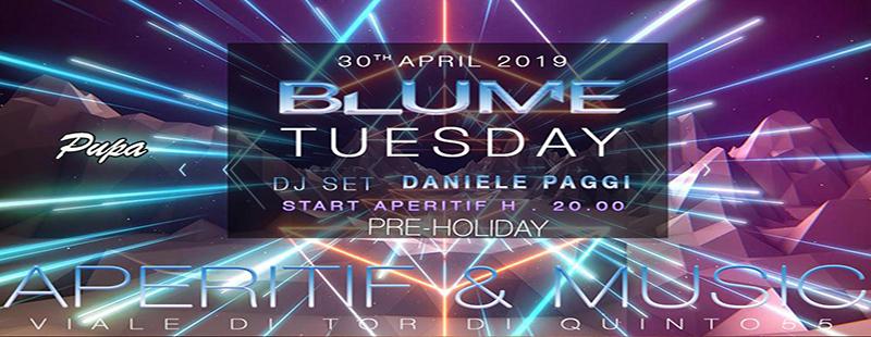 Blume Lounge martedì 30 Aprile 2019: L'aperitivo di Roma Nord
