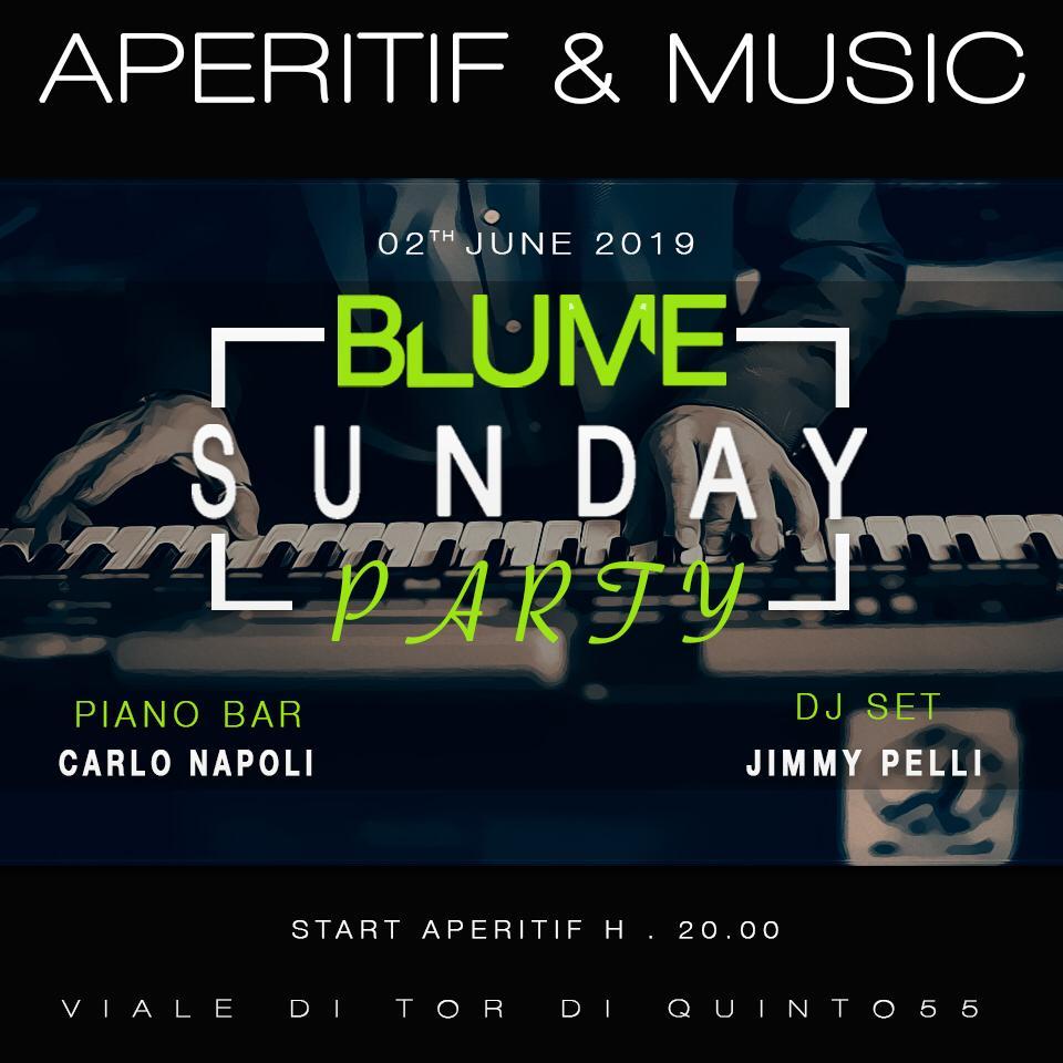 Aperitivo al Blume di Ponte Milvio domenica 2 giugno 2019
