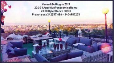 Discoteca Gianicolo venerdì 14 Giugno Aperitivo al tramonto & Dance90