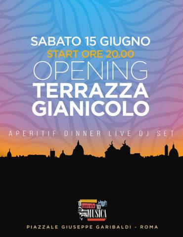 Terrazza Gianicolo Sabato 15 giugno 2019 Aperitivo e Djset