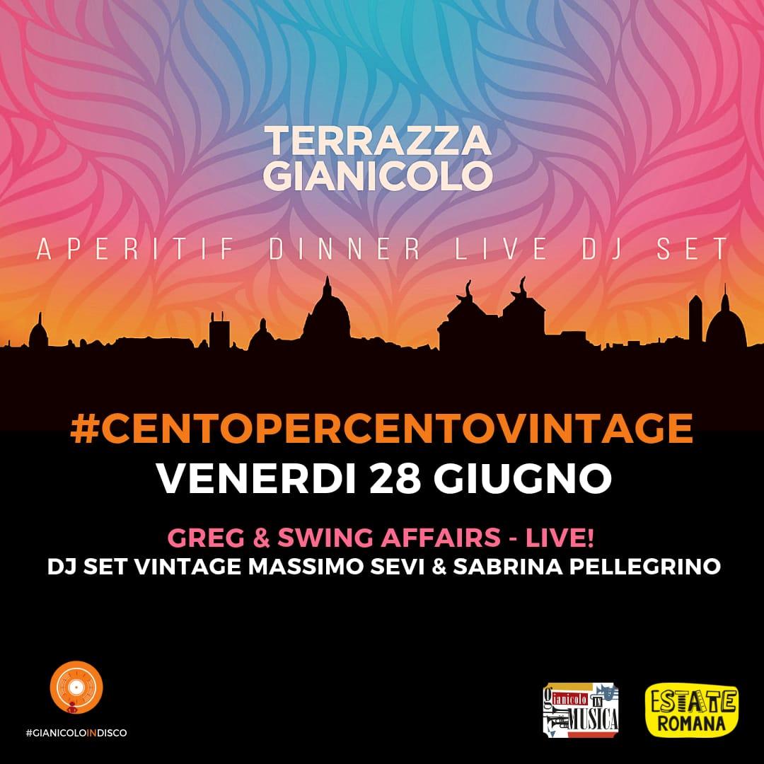 Discoteca Gianicolo venerdì 28 | Aperitivo in Terrazza al tramonto Djset 90