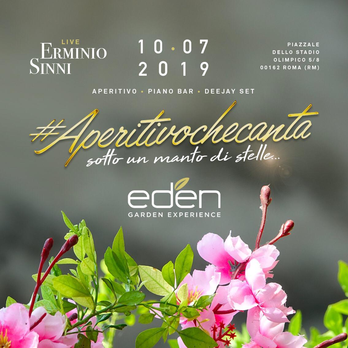 Aperitivo Eden mercoledì 10 luglio 2019 Aperitivo che canta nel bosco