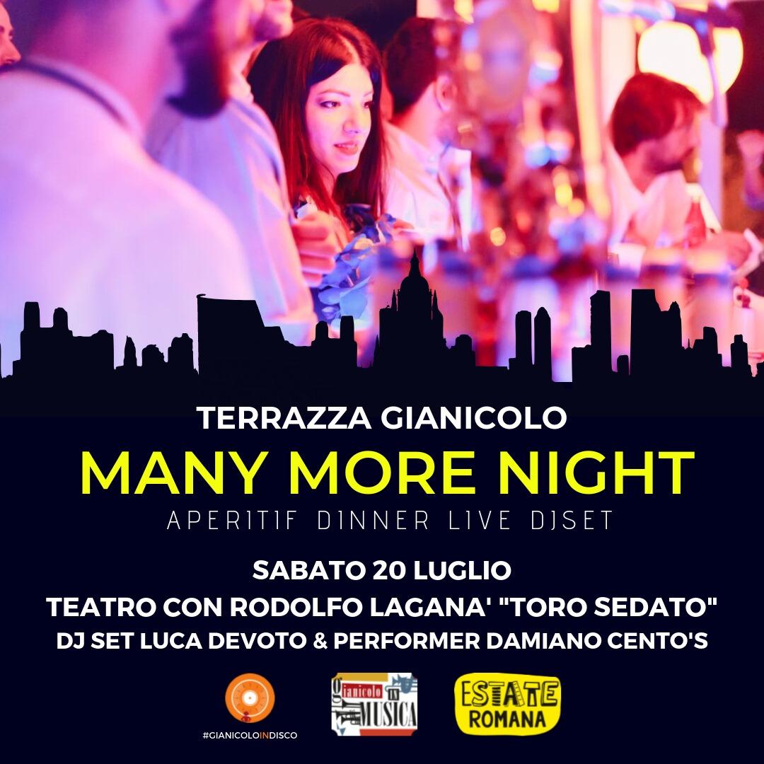 Terrazza Gianicolo Sabato 20 Luglio 2019 Aperitiv & Disco sotto le stelle