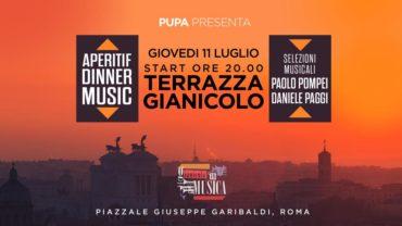 Terrazza Gianicolo giovedì 11 luglio 2019 Aperitivo e Disco PUPA 🍋