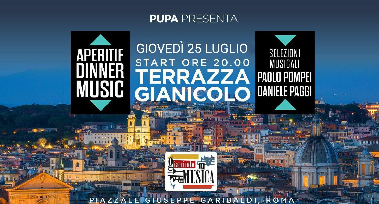 Terrazza Gianicolo giovedì 25 luglio 2019 Aperitivo e Disco PUPA 🍋
