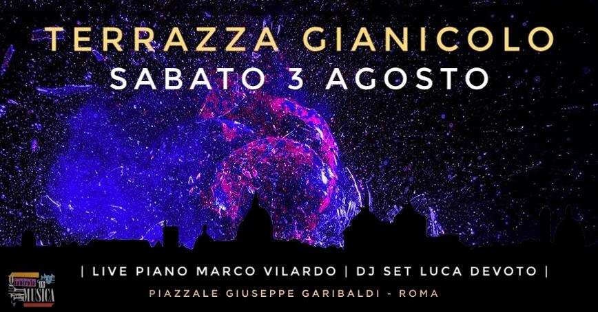 Terrazza Gianicolo Sabato 3 Agosto 2019 RoofTop Aperitiv & Disco 2 Terrazza Gianicolo Sabato 3 Agosto 2019 RoofTop Aperitiv & Disco