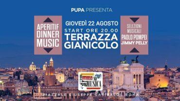Terrazza Gianicolo giovedì 22 agosto Aperitvo&Disco sotto le stelle