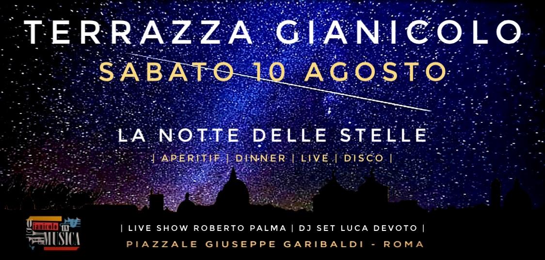 La notte delle stelle cadenti @ Terrazza Gianicolo sabato 10 Agosto
