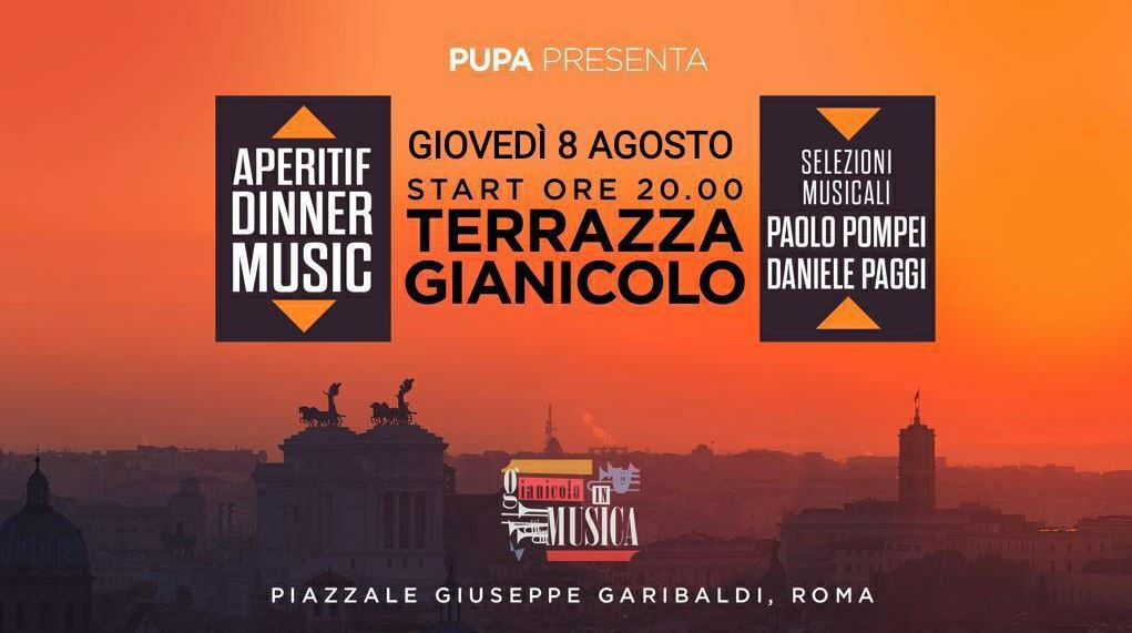 Pupa Lemon 🍋 Night Terrazza Gianicolo giovedì 8 agosto
