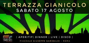 Aperitivo Panoramico e Djset RoofTop Terrazza Gianicolo sabato 17 Agosto