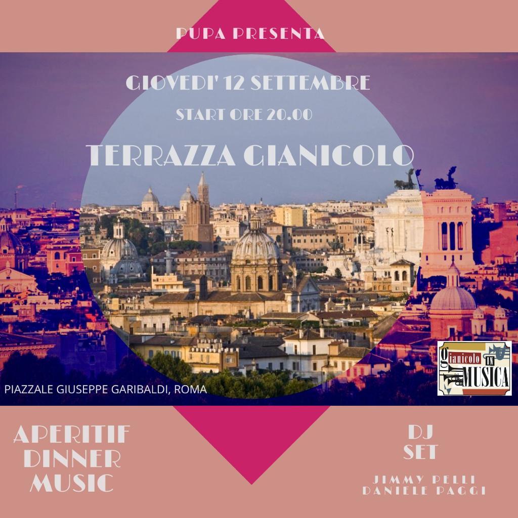 Terrazza Gianicolo giovedì 12 settembre RoofTop Aperitiv&Club