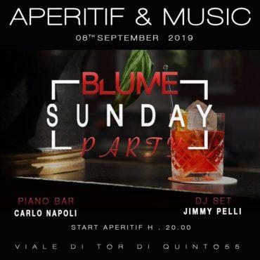 Blume Ponte Milvio Aperitivo domenica 8 settembre 2019 Live + Djset