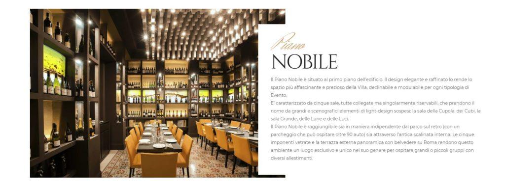 discoteca la villa piano nobile