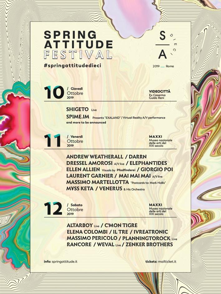 ELLEN ALLIEN MAXII ROMA 10/12 Ottobre Spring Attitude Festival 2019