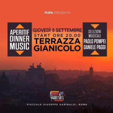 Terrazza Gianicolo giovedì 5 settembre RoofTop Aperitiv&Club