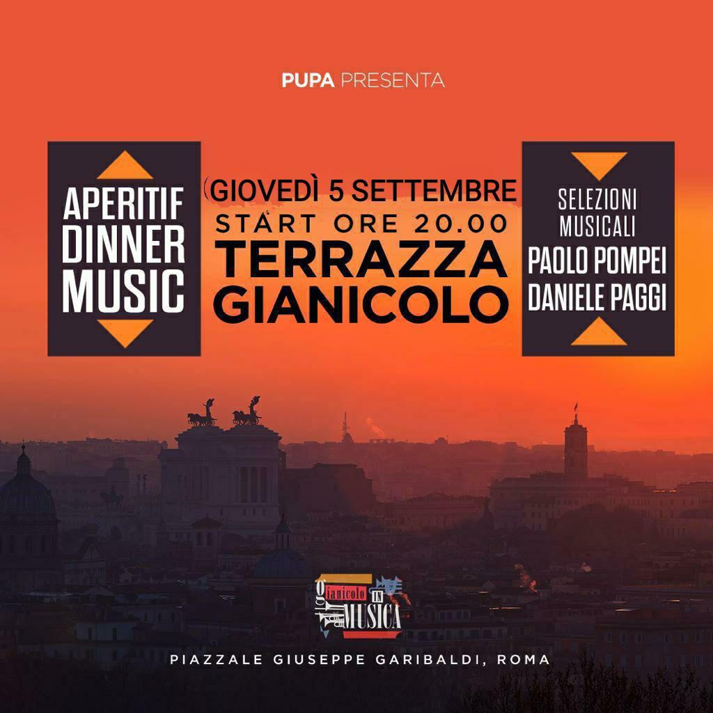 Terrazza Gianicolo Giovedì 5 Settembre Rooftop Aperitiv Club