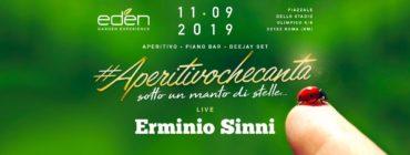 Eden Roma mercoledì 11 settembre: Aperitivo che canta e djset nel bosco