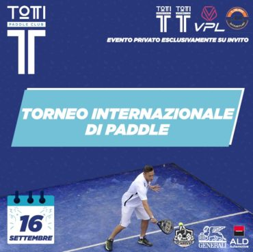torneo paddle totti sporting club
