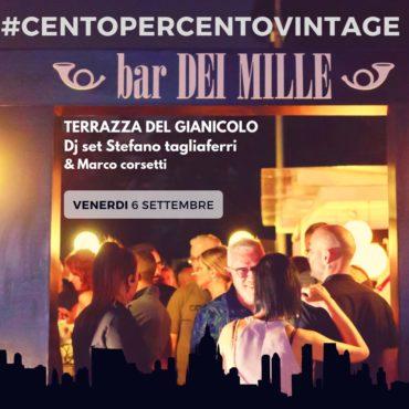 Terrazza Gianicolo venerdì 6 settembre Ape&Disco 100x100 Vintage