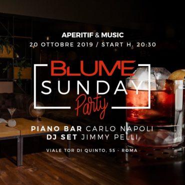 BLUME Domenica 20 ottobre 2019 Aperitiv&Club Ponte Milvio