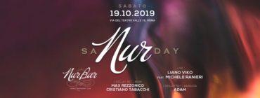 SaNURday Aperitivo Discoteca NUR BAR sabato 19 ottobre 2019