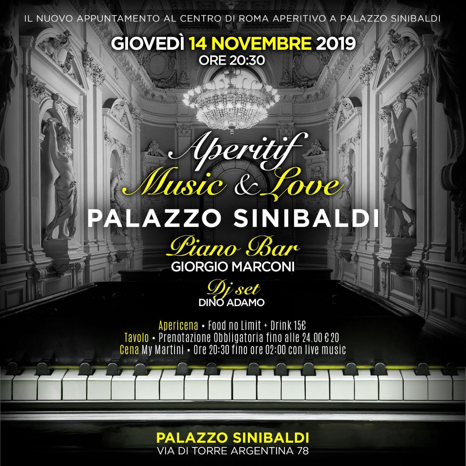 Aperitivo al Palazzo Sinibaldi giovedì 14 novembre 2019 Shari Vari