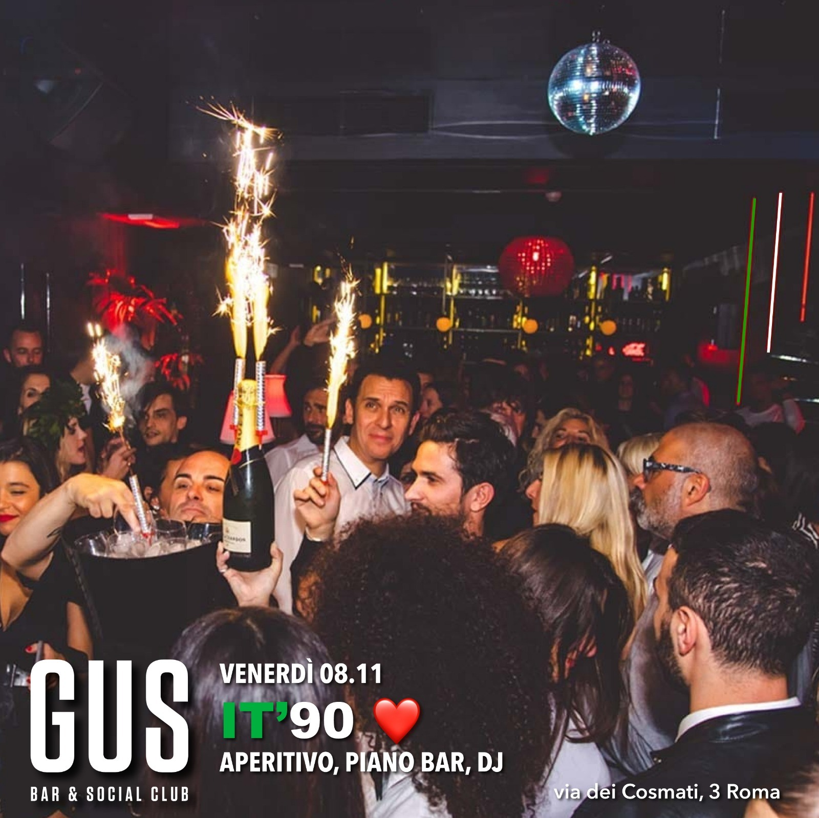 Aperitivo e Disco at Gus Club venerdì 8 novembre 2019
