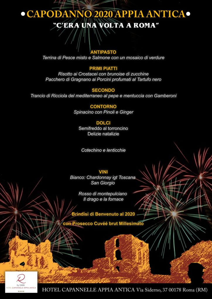 Capodanno Hotel Capannelle Roma