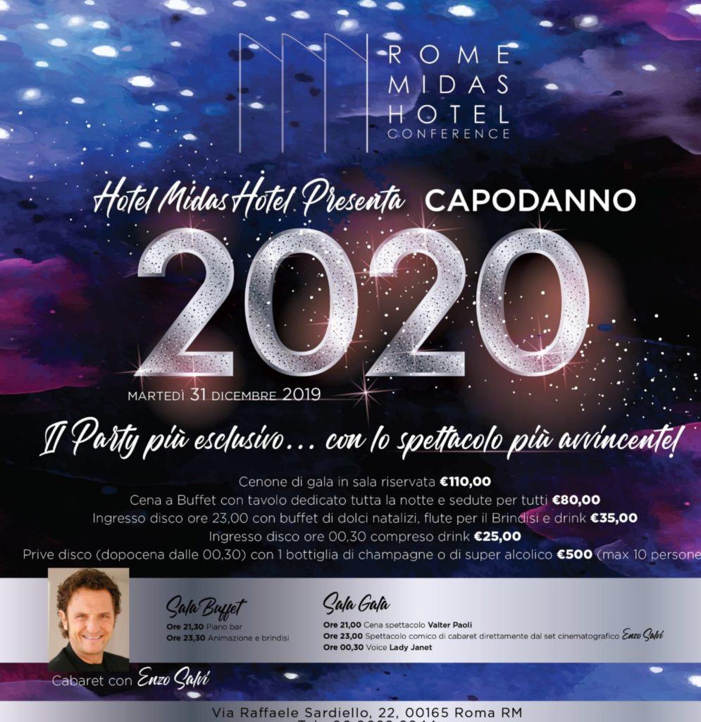 Capodanno Hotel Midas 2020 Roma