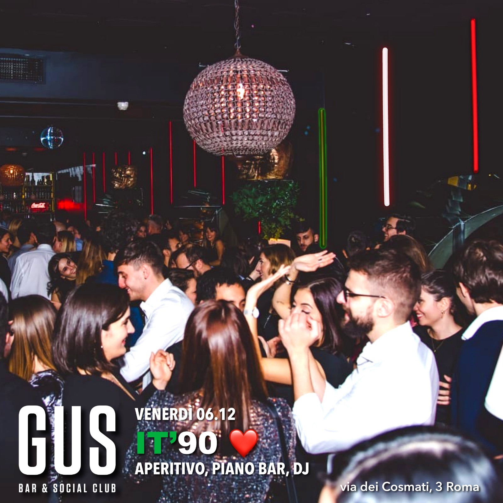 Gus Roma venerdì 6 novembre 2019 Aperitivo Discoteca Roma centro