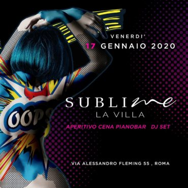 A La Villa Sublime venerdì 17 gennaio c'è L'APERITIVO CHE CANTA ♥