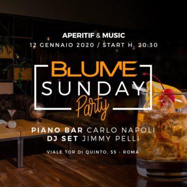 BLUME Roma Domenica 12 Gennaio 2020 Aperitiv&Club Ponte Milvio