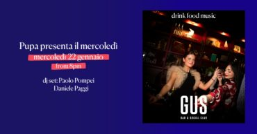 L'aperitivo al Gus Club mercoledì 22 gennaio 2020 in zona Prati