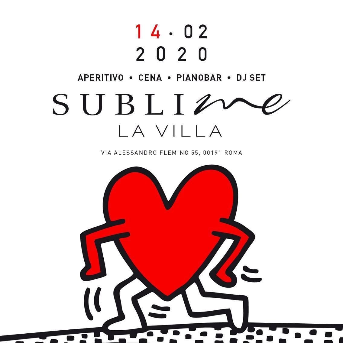 Sublime La Villa venerdì 14 Febbraio: Aperitivo Che Canta e Discoteca