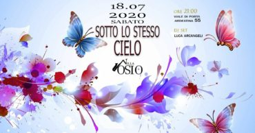 Villa Osio sabato 18 Luglio 2020 Aperitiv Djset Garden e Terrazza