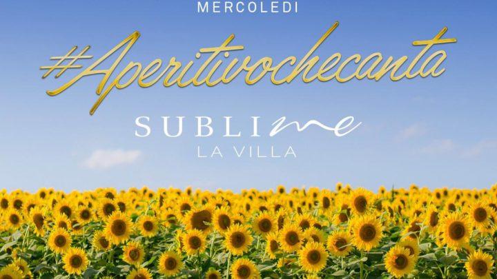 Aperitivo che canta mercoledì 2 settembre La Villa Sublime Roma