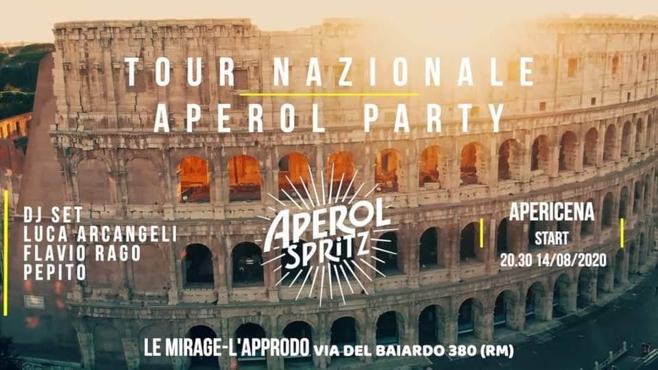 Aperol Party Roma Ferragosto 2020 Ponte Milvio sabato 14 Agosto 2020