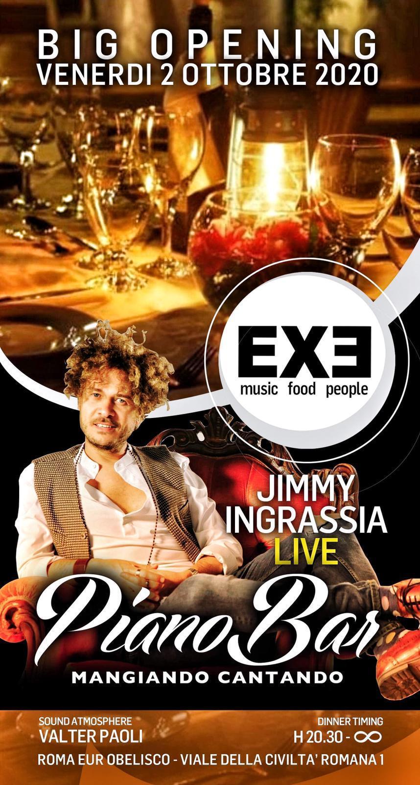 EXE Roma Eur Sabato 2 ottobre 2020 Cena Piano Bar