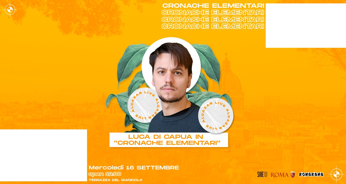 Luca di Capua mercoledì 16 settembre Terrazza Gianicolo