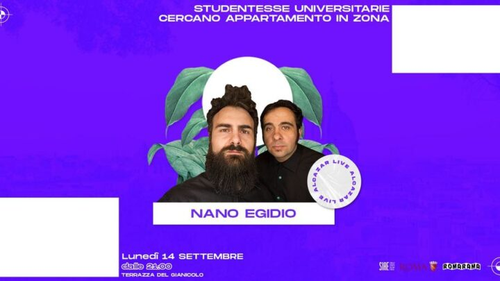 Nano Egidio Terrazza Gianicolo Roma lunedì 14 settembre 2020