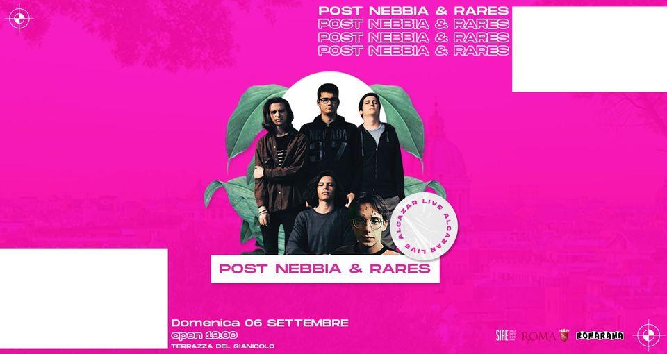 Post Nebbia & Rares Terrazza Gianicolo domenica 6 settembre 2020