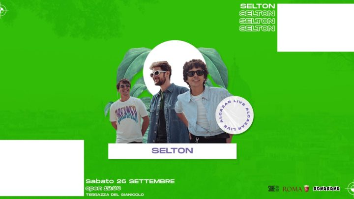 Terrazza Gianicolo sabato 26 settembre 2020 Live Selton | Mixology Food &Drink