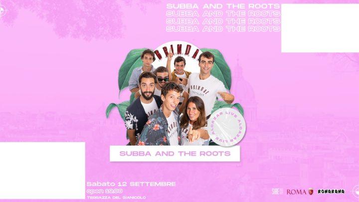 Terrazza Gianicolo sabato 12 settembre 2020 Subba and the Roots